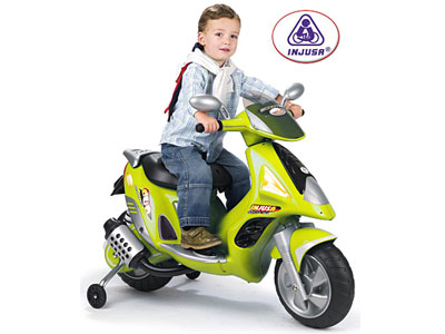Injusa scooter duo 6v green free shipping for Motor age training coupon code