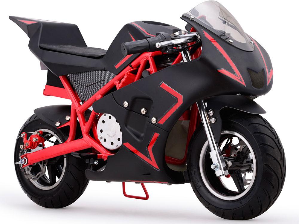 mototec cali 36v electric pocket bike red. Black Bedroom Furniture Sets. Home Design Ideas
