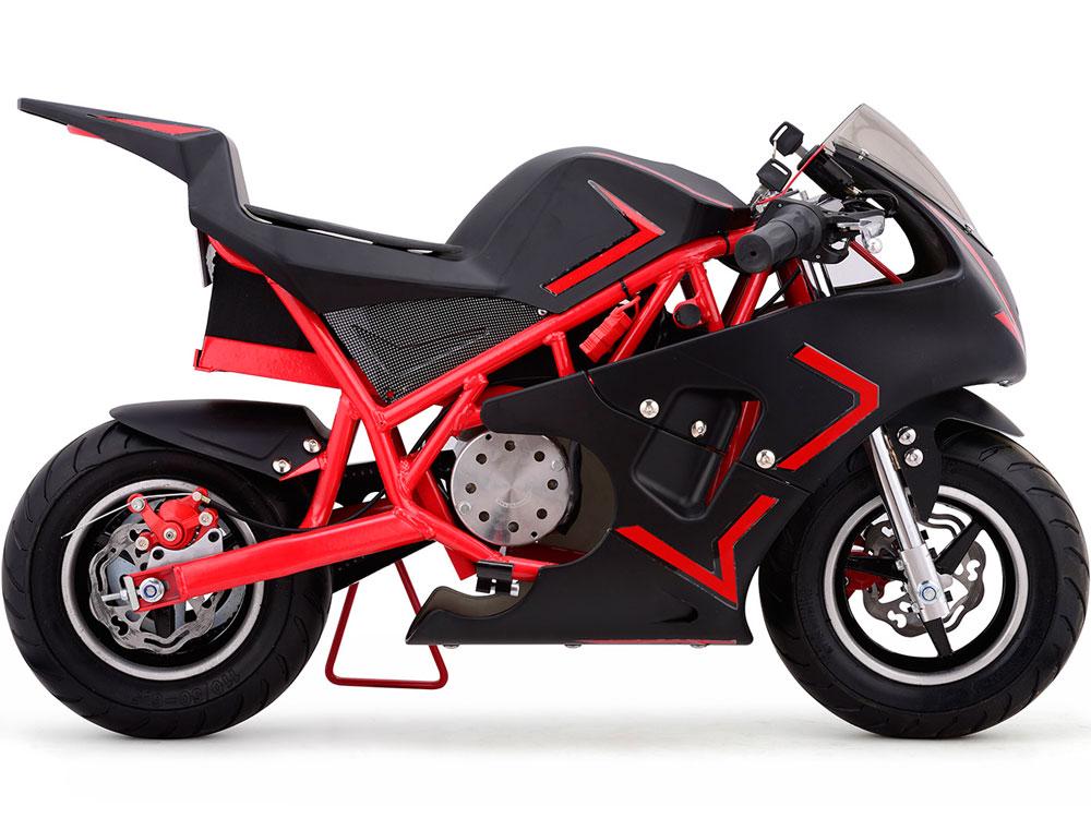Mototec Cali 36v Electric Pocket Bike Red