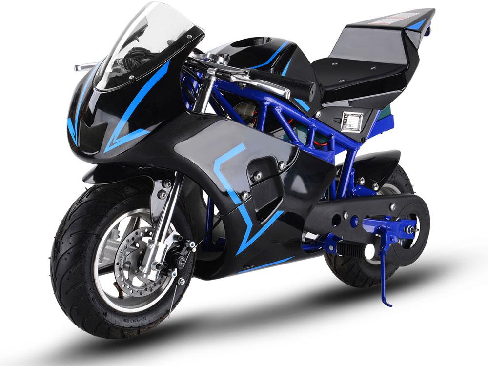 mototec 36v 500w electric pocket bike gp blue. Black Bedroom Furniture Sets. Home Design Ideas