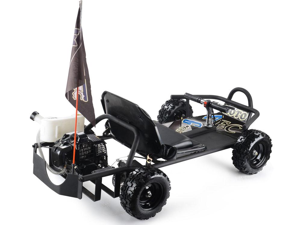MotoTec SandMan Go Kart 49cc Black