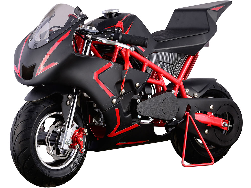 mototec cali gas pocket bike 40cc 4 stroke red