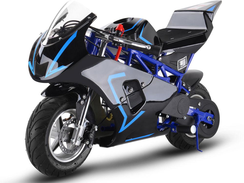 Mototec Gas Pocket Bike Gp 33cc 2 Stroke Blue