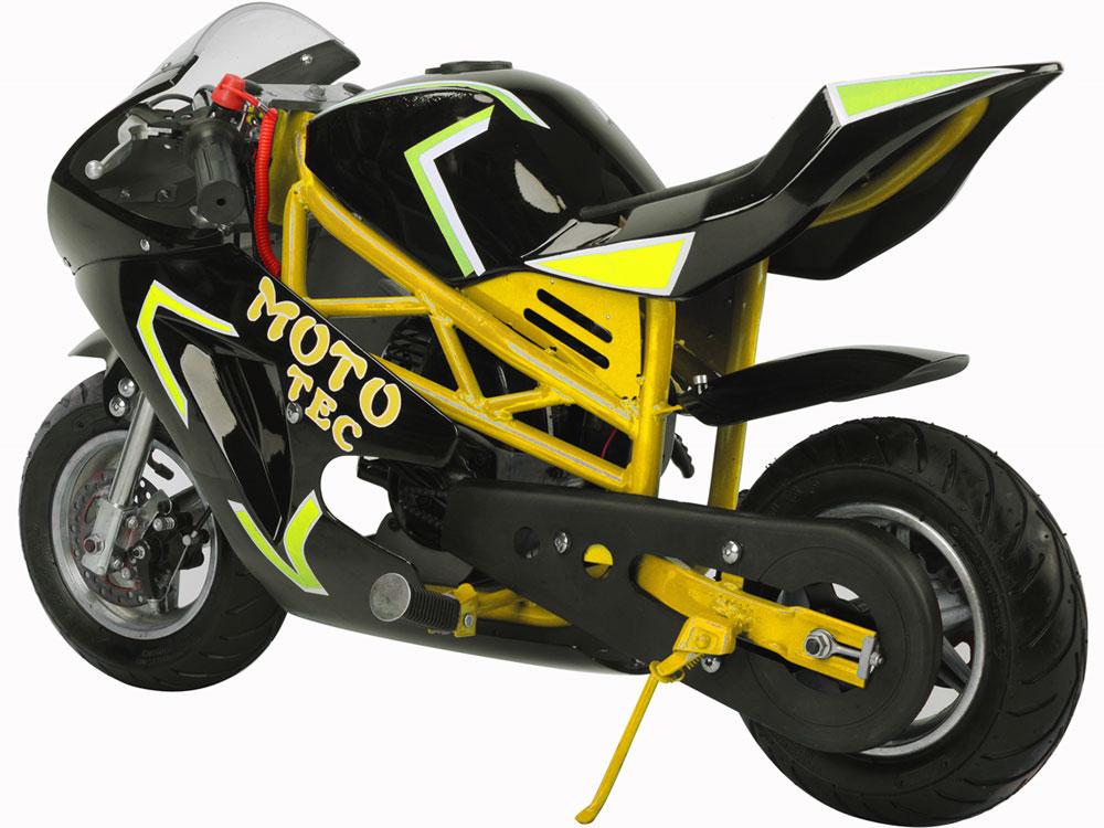 Mototec Gas Pocket Bike Gt 49cc 2 Stroke Yellow
