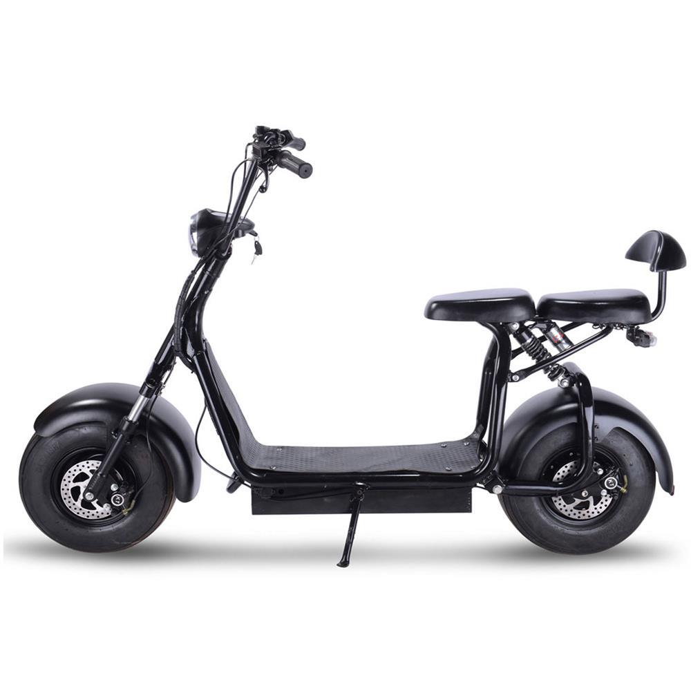 mototec knockout 48v 1000w electric scooter black. Black Bedroom Furniture Sets. Home Design Ideas
