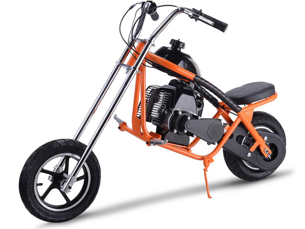 Mototec 49cc Gas Mini Chopper Orange
