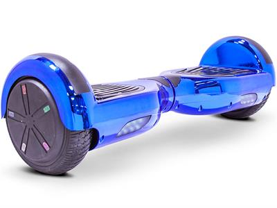 Hoverboard 24v 6.5inch Blue Chrome